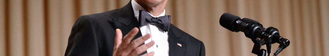 WASHINGTON, DC - APRIL 25: President Barack Obama speaks at the annual White House Correspondent's Association Gala at the Washington Hilton hotel April 25, 2015 in Washington, D.C. The dinner is an annual event attended by journalists, politicians and celebrities. (Photo by Olivier Douliery-Pool/Getty Images)